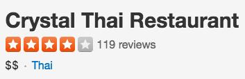 Crystal Thai Food Arlington Yelp Logo